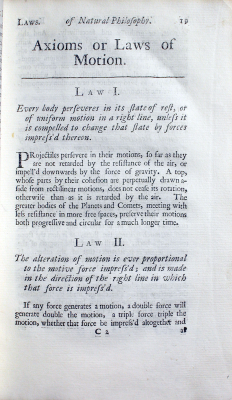 Mathematical Principles of Natural Philosophy, 1729   galileo